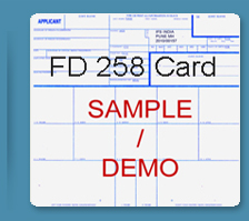 Police clearance certificate India, FBI FD 258 card USA